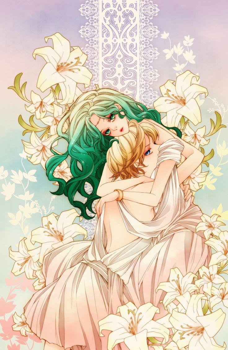 Sailor Moon R | Sailor Uranus x Sailor Neptune | Michiru Kaimou (Michelle) & Haruka Tenou (Amara) | Anime | Fanart | SailorMeowMeow