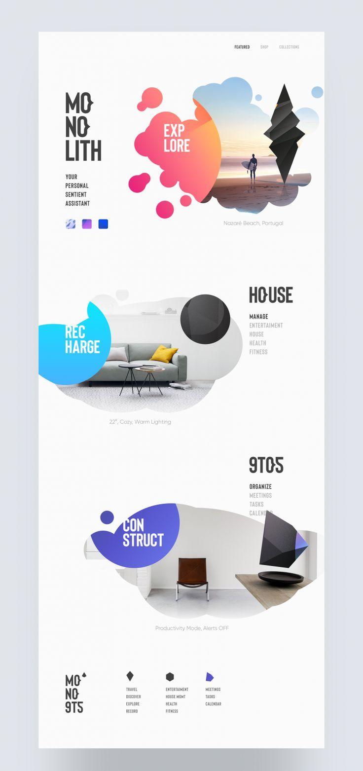 Monolith On Best Website Designs 2019 Good Website Design Most Beautiful Websites Graphic Design Webpage Web Design Web Layout Design Web Design Quotes