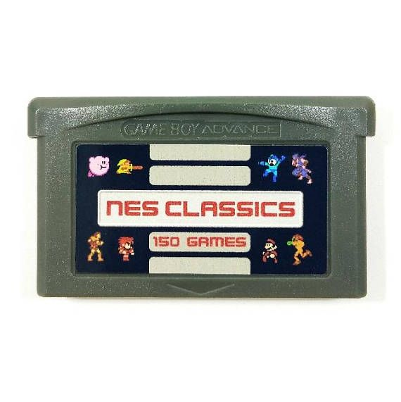 150 In 1 Nes Classics For Nintendo Gba Gameboy Advance Multicart