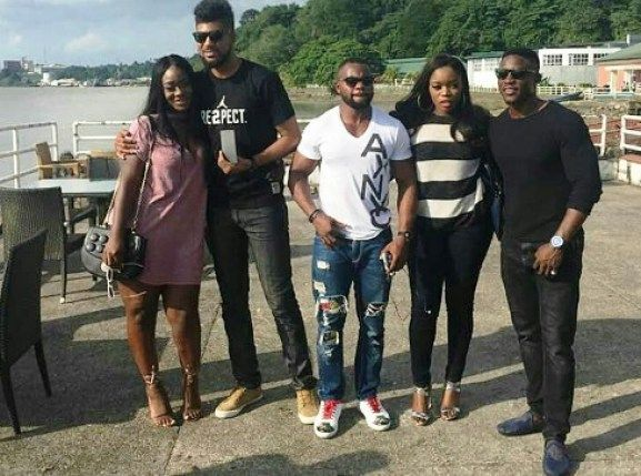 Big Brother Naija contestants hang out including TTT & Bisola