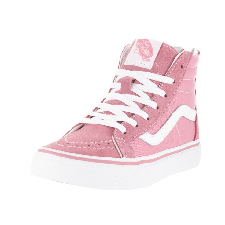Make sure your kid is the most fashion-forward skater at the park with these Vans skate shoes. The pink-and-white high-top shoes are made of suede material for durability and a smooth feel. Material: