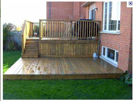 17 best ideas about platform deck on pinterest easy deck for Small platform deck design
