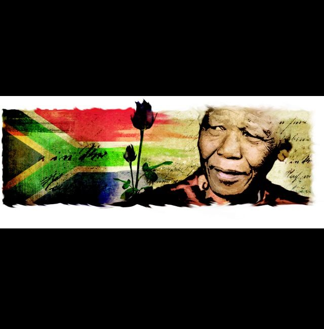 Tributo a Mandela ilustracion.
