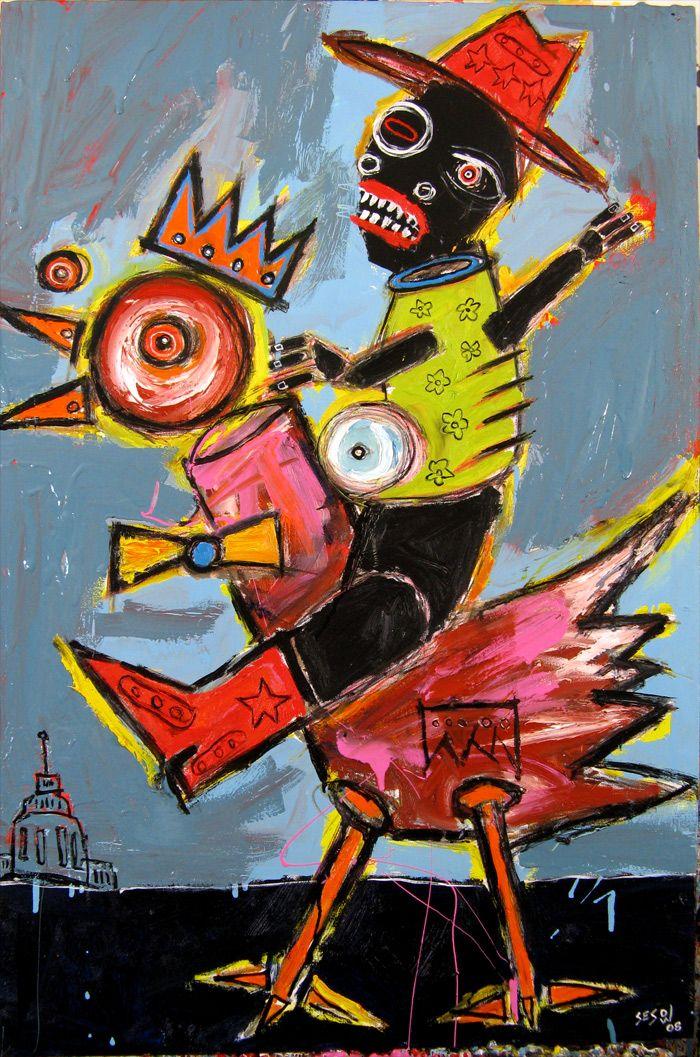 2008 matt sesow outsider brut painting