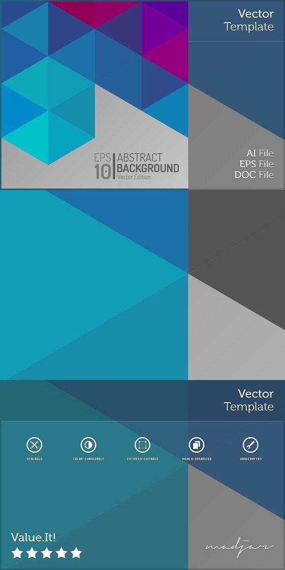 Polygon Vector Geometric Background. Presentation Templates
