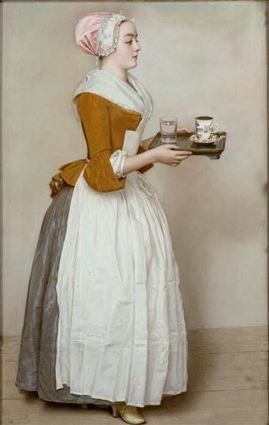 Jean Etenne Liotard, La Belle Chocolatiere, 1744/45, Gemäldegalerie Alte Meister, Staatliche Kunstsammlungen, Dresden