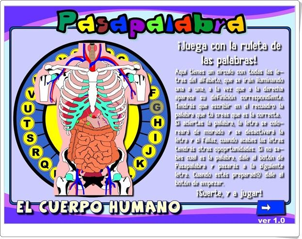 """Pasapalabra """"El cuerpo humano"""" (Ciencias Naturales de Secundaria)"""