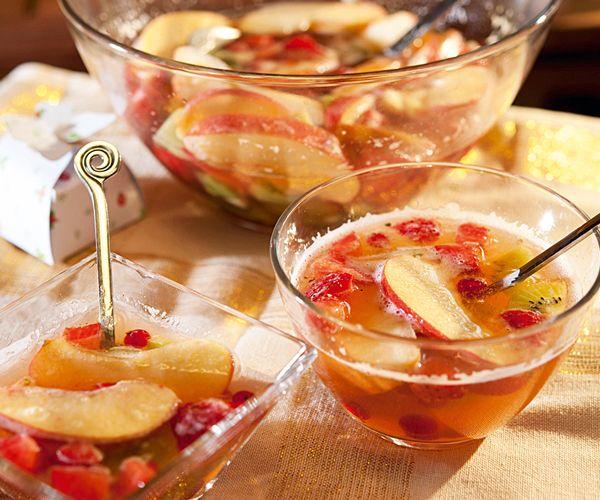 Soupe de fruits au pétillant de pommes