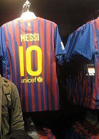 Remera de Lionel Messi, Barcelona 2012