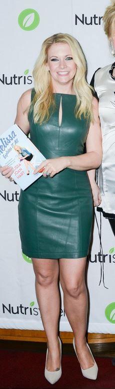 Melissa Joan Hart: Dress – Robert Rodriguez  Shoes – Schutz