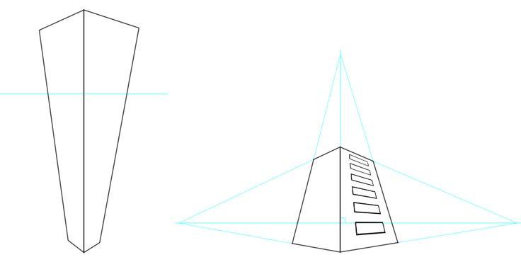 Perspective conique à trois points de fuite http://www.emangaka.com/lecons-et-tutoriels/lecons-et-astuces/perspective-trois-points-de-fuite