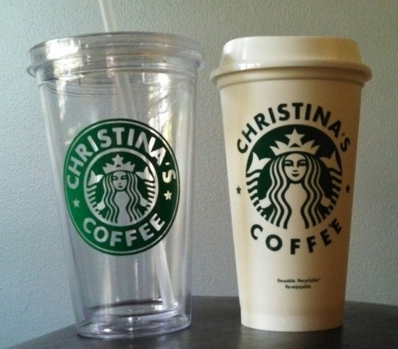 Starbucks Personalized Hot Coffee Cup Mug With Lid