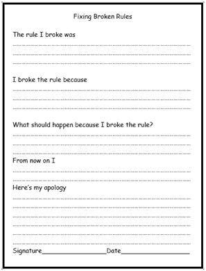 think sheet...kids will not want to get in trouble because they will not want to fill this out :) Madison is still way too young for this- but I am going to keep this little jewel until she is ready!!