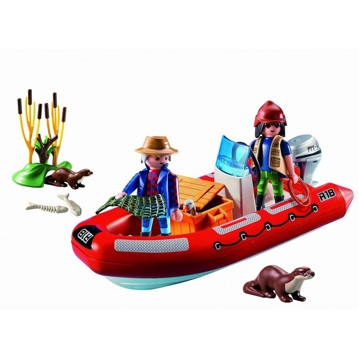 Playmobil Inflatable Boat with Explorers,