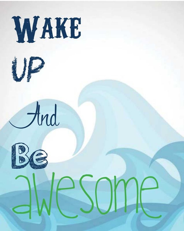 Wake Up and Be Awesome #beanandjean