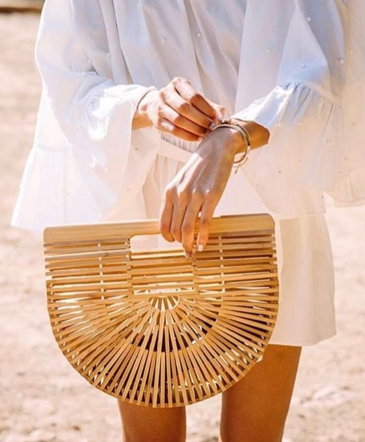 I can't get enough of the straw bag trend.