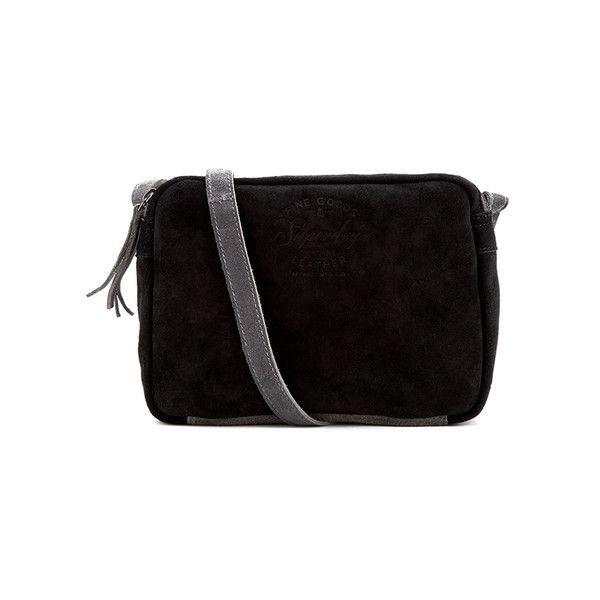 Superdry Women's Small Anneka Cross Body Bag (€62) ❤ liked on Polyvore featuring bags, handbags, shoulder bags, embossed handbags, velvet purse, crossbody shoulder bags, round handbags and zip purse