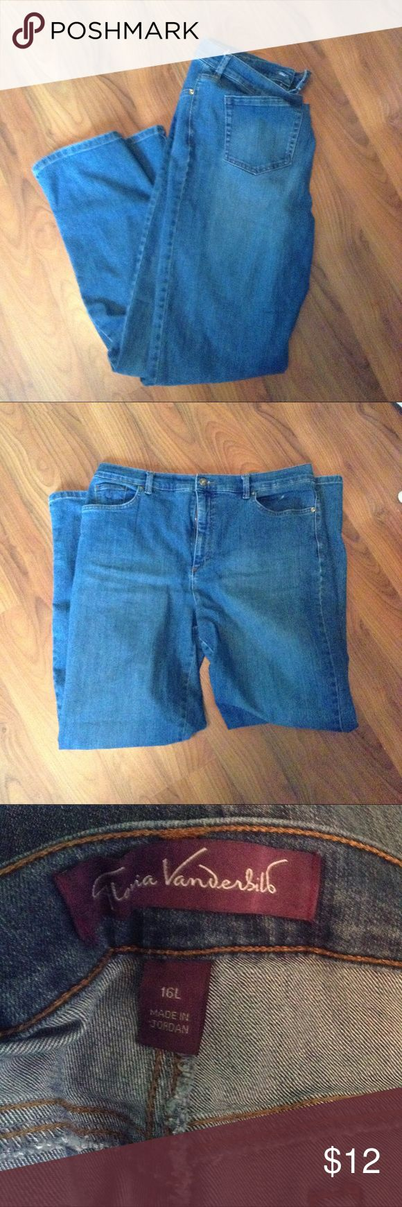 Gloria Vanderbilt size 16L straight leg jeans For sale we have a pair of Gloria Vanderbilt size 16L straight leg jeans. Great shape no stains or tears. Pants Straight Leg