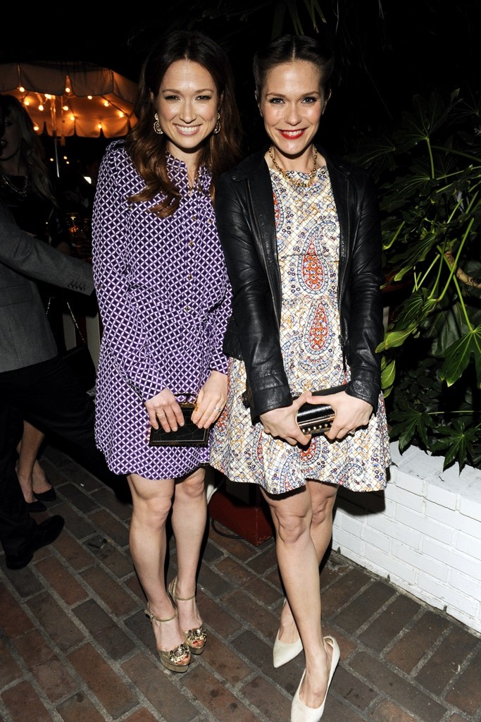 Ellie Kemper in Juicy Couture with Katie Aselton.