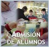 Información práctica sobre el proceso de admisión de alumnos.