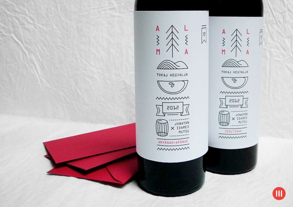 PRINT | Pálinka label and Xmas greeting card on Behance