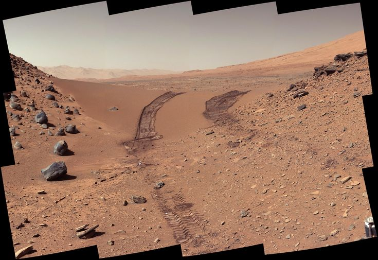 This look back at a dune that NASA's Curiosity Mars rover drove across was taken by the rover's Mast Camera (Mastcam) during the 538th Martian day, or sol, of Curiosity's work on Mars (Feb. 9, 2004).