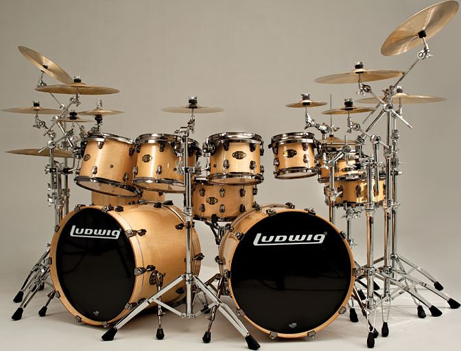 Ludwig Double Bass Drum Sets...