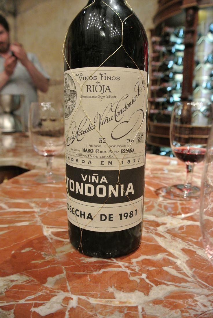 1981 Vina Tondonia, a gift from our friend Jose Luis Ripa at Lopez de Heredia in Rioja.