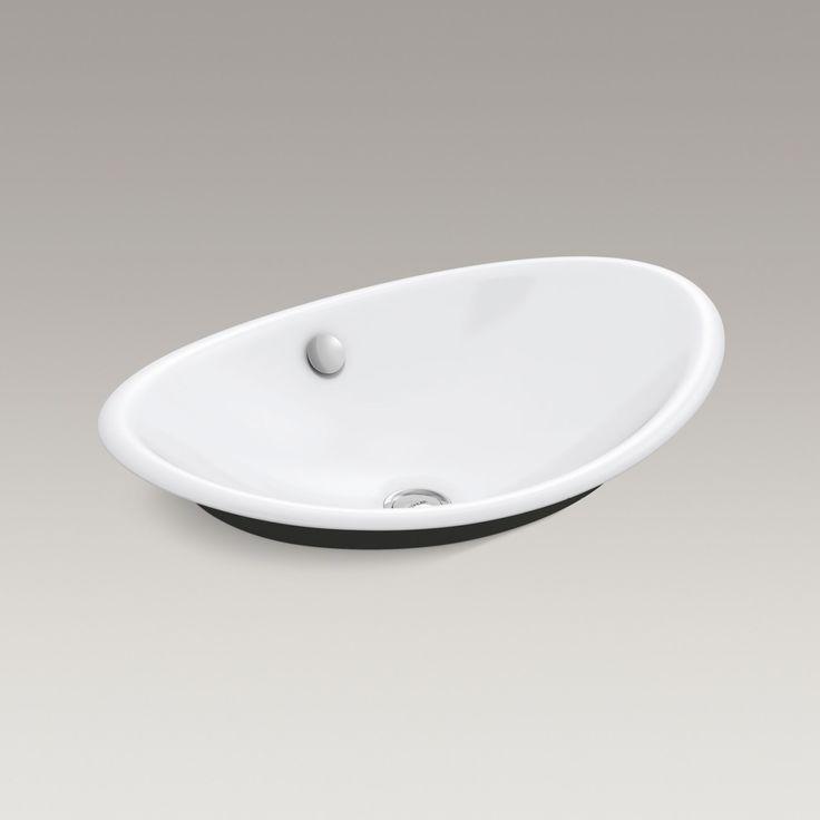 Iron Plains bathroom sink http://www.us.kohler.com/us/Iron-Plains™-Wading-Pool-oval-bathroom-sink-with-Iron-Black-painted-underside/productDetail/Styles-of-Bathroom-Sinks/1061017.htm?skuId=1061003&brandId=1037150&isSeachPage=true&pageName=globalSearch&hash=id%3Dfilters%26startIndex%3D40%26scrollTop%3D0