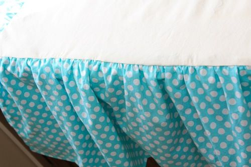 How to make a ruffled crib skirt