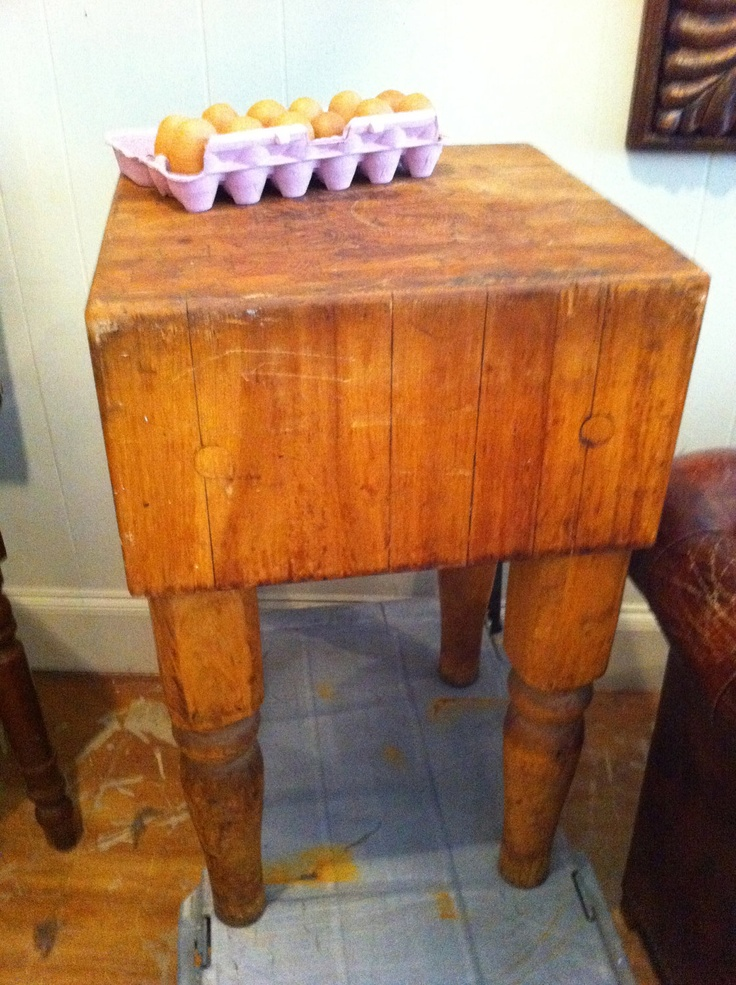 vintage antique butcher block