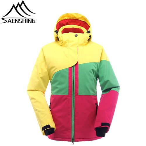 Outerwear Cotton And Polyester Waterproof & Windproof Coats Snow Jackets for Women Fashion Cut Promotion Sale Now