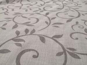Altezza: 300 cm Composizione: 100% Poliestere  Tessuto per tendaggi a fantasia floreale orlato a piombo.#ecru #bianco #tende #arredamentomoderno