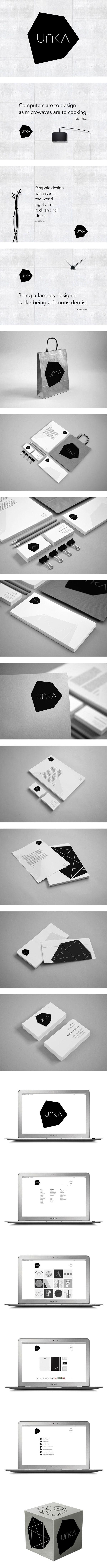 UNKA by Ven Klement, via Behance | #stationary #corporate #design #corporatedesign #identity #branding #marketing < repinned by www.BlickeDeeler.de | Take a look at www.LogoGestaltung-Hamburg.de