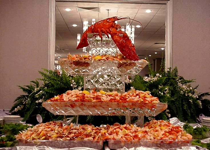 Receptions Food Displays And Prime Time On Pinterest: Seafood Display Ice Carvings
