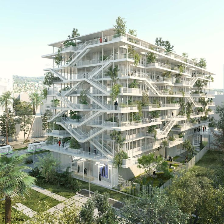 Office Block by NL*A Paris in Nice, France. #morfae   #nlaparis   #architecture   #officedesign