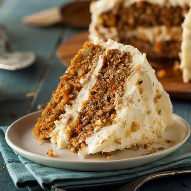 Carrot cake épicé au cream cheese