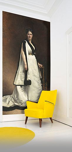 It's all in the Mix....Classic portrait with Op Yellow Chair