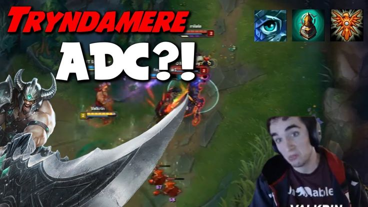 Valkrin- When your ADC locks in Tryndamere https://www.youtube.com/watch?v=IppVfhhbHzA #games #LeagueOfLegends #esports #lol #riot #Worlds #gaming