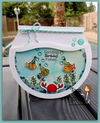 June Stamp Release Blog Hop 2015 - Fishbowl from Silhouette store