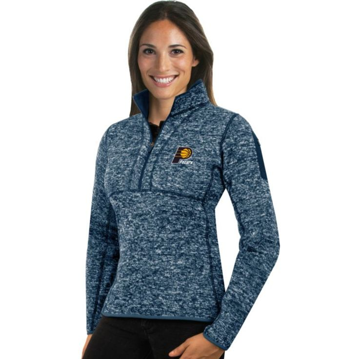 Antigua Women's Indiana Pacers Fortune Navy Half-Zip Pullover, Size: Medium, Team