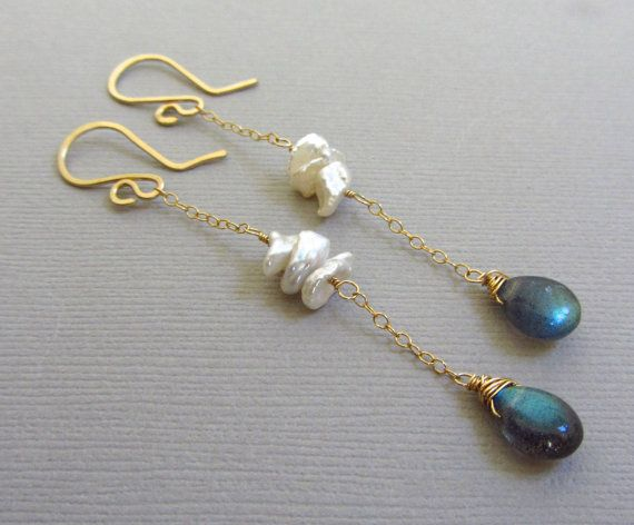 Perfect Bridal Earrings! Super Delicate, and I love the pearls!