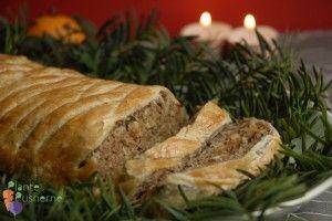 Morsbrød - indbagt vegansk farsbrød /nøddesteg