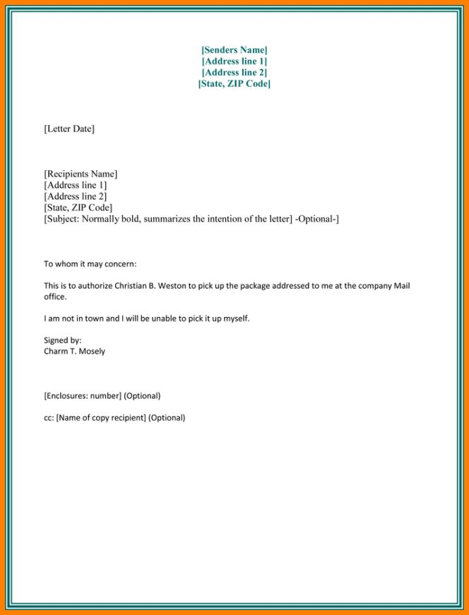 Authorisation Letter For Signing Documentsthorization Sample