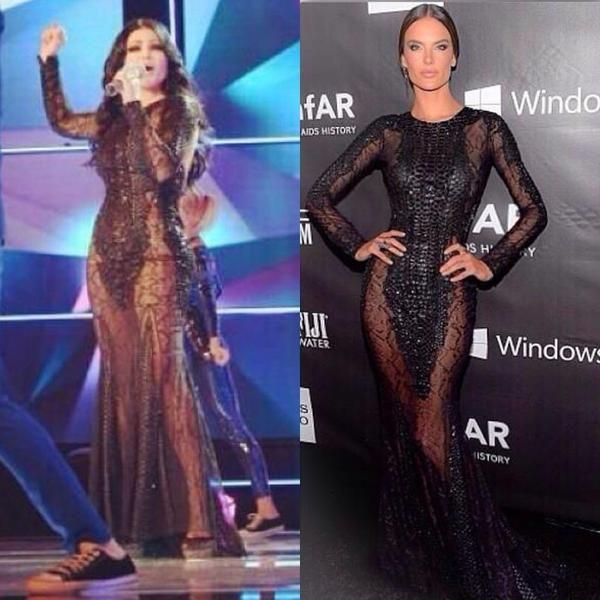 controversial dress | Haifa Wehbe's Controversial Zuhair Murad Dress