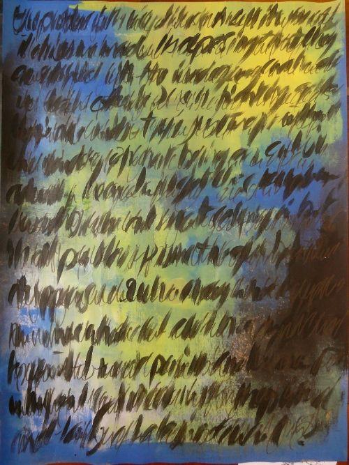 Asemic Escritura.  Cheryl Penn.  Una Enciclopedia de Todo 1