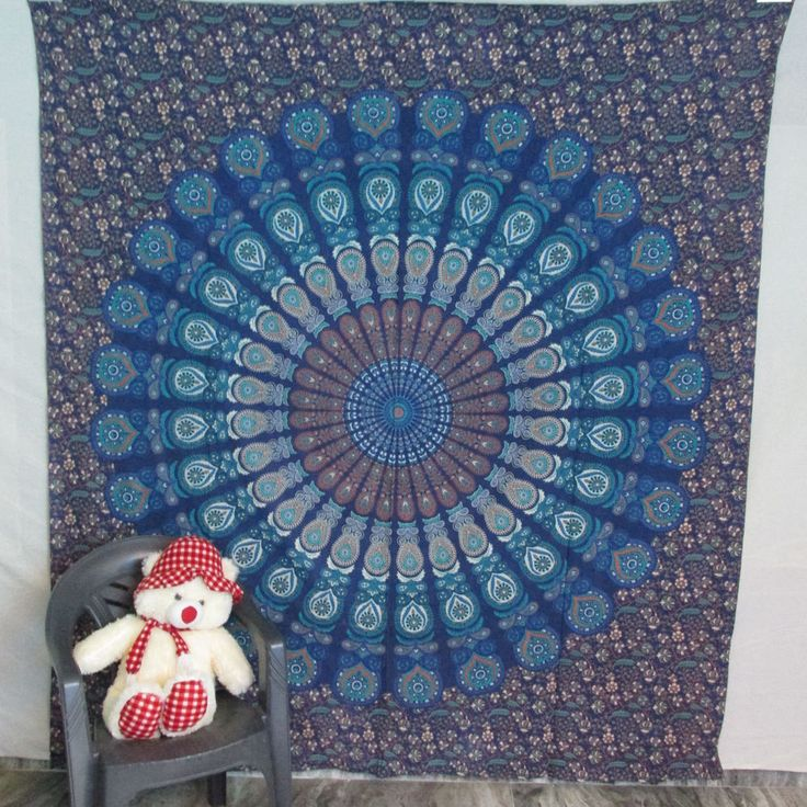 Indian Cotton Mandala Bedspread Wall Hanging Hippie Throw Bohemian Tapestry #Handmade