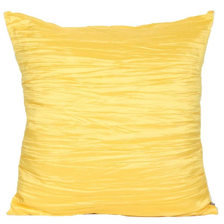 Pinta Crinkle Yellow Cushion - Vista Blinds Available in 16colours. 45cm x 45cm.