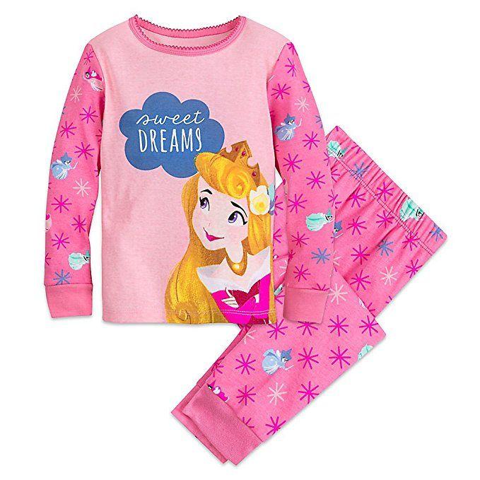 Disney Store Baby Girls Princess Jasmine PJ Pals Long Sleeve Pajama Set Purple