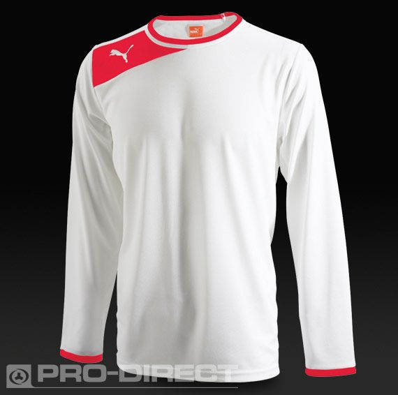 Puma Powercat 5.12 LS Football Shirt - White/Red